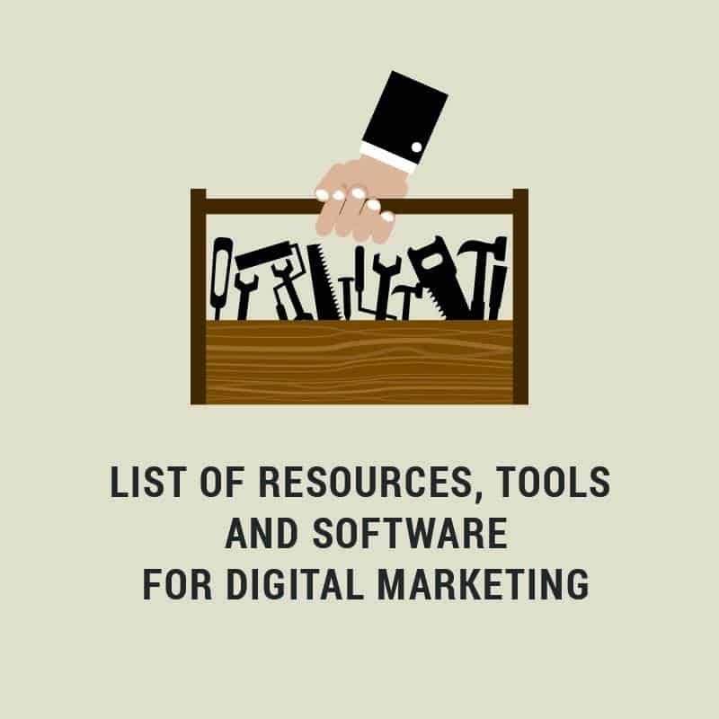 List of Tools and Resources For Digital Marketing 1