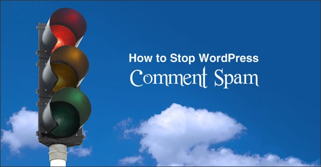 How to stop spam in WordPress comments